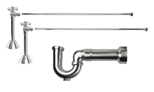 Mountain Plumbing MT629MASS-NL-BRN New England Lavatory Supply Kit - Angle Sweat - Brushed Nickel