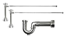 Mountain Plumbing MT629MASS-NL-SC New England Lavatory Supply Kit - Angle Sweat - Satin Chrome