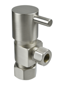 Mountain Plumbing MT5003L-NL-BRN Compression Angle Valve - Brushed Nickel