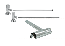 """Mountain Plumbing  MT9002-NL-SC  Lavatory Supply Kit w/ Decorative Trap & Clean-Out Plug - Angle - Contemporary Round Handle - (5/8"""" O.D.) 1/2""""  - Satin Chrome"""