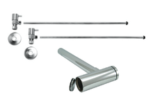 """Mountain Plumbing  MT9004-NL-SC  Lavatory Supply Kit w/ Decorative Trap & Clean-Out Plug - Angle - Contemporary Lever Handle - (5/8"""" O.D.) 3/8""""  - Satin Chrome"""