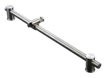 Mountain Plumbing  MT9SR-BRN  Stainless Steel Adjustable Slide Bar Shower Rail  - Brushed Nickel