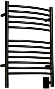 "Amba Jeeves ECMB-20  E Curved Electric Heated Towel Warmer - Matte Black - 20-1/2"" W x 31"" H"