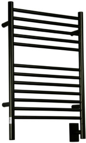 "Amba Jeeves ESMB-20  E Straight Electric Heated Towel Warmer - Matte Black - 20-1/2"" W x 31"" H"