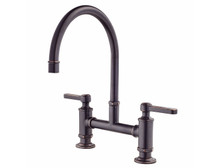 Pfister GT31-TDY Two Handle Bridge Kitchen Faucet - Tuscan Bronze