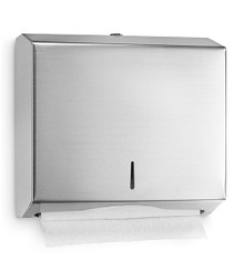 "Alpine  481 Stainless Wall Mount Paper Towel Dispenser 10-1/5"" H - C-Fold/Multifold"