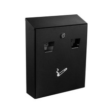 Alpine  490-01-BLK All-in-one Wall Mount Cigarette Disposal Station  - Black
