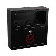Alpine  490-02-BLK Quick Clean Wall Monut Cigarette Disposal Bin  - Black