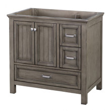 "Foremost BAGV3622D 36"" Brantley Vanity Cabinet 2 Doors, 3 Drawers, 1 Interior Adjustable Shelf - Distressed Grey"