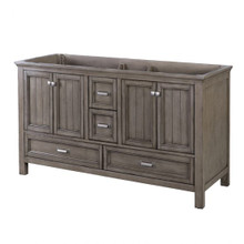 "Foremost BAGV6022D 60"" Brantley Vanity Cabinet 4 Doors, 4 Drawers, 2 Interior Adjustable Shelves - Distressed Grey"