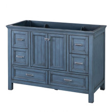 "Foremost BABV4822D 48"" Brantley Vanity Cabinet 2 Doors, 6 Drawers, 1 Interior Adjustable Shelf - Harbor Blue"