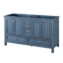 "Foremost BABV6022D 60"" Brantley Vanity Cabinet 4 Doors, 4 Drawers, 2 Interior Adjustable Shelves - Harbor Blue"