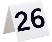 Alpine 493-26-50 Industries Self Standing Number Cards, Numbers 26-50 - White