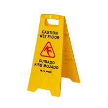 "Alpine 499 Industries 24"" Caution Wet Floor Sign - Yellow"