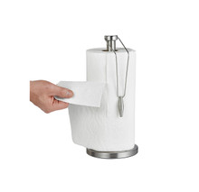Alpine 433-02 Stainless Steel Paper Towel Holder with Slip-Resistant Base - Sliver