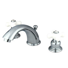 "Kingston Brass Two Handle 4"" to 8"" Mini Widespread Lavatory Faucet with Pop-Up Drain Drain - Polished Chrome KB961PX"