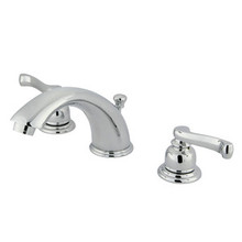 "Kingston Brass Two Handle 4"" to 8"" Mini Widespread Lavatory Faucet with Pop-Up Drain Drain - Polished Chrome KB961FL"