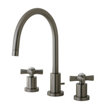 Kingston Brass KS8928ZX Two Handle Widespread Lavatory Faucet - Satin Nickel