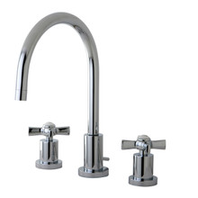 Kingston Brass KS8921ZX Two Handle Widespread Lavatory Faucet - Polished Chrome