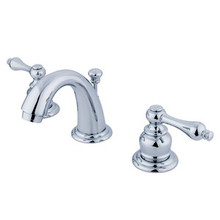 "Kingston Brass Two Handle 4"" to 8"" Mini Widespread Lavatory Faucet with Pop-Up Drain Drain - Polished Chrome KB911AL"