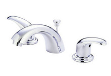 "Kingston Brass Two Handle 4"" to 8"" Mini Widespread Lavatory Faucet with Pop-Up Drain Drain - Polished Chrome KB6951LL"