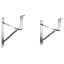 Whitehaus BRACKETD72 Additional Wall Mount Brackets for Extra Support. For use with WHNCD72 - Brushed Stainless Steel