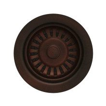 "Whitehaus RNW35L-MB 3 1/2"" Basket Strainer for Deep Fireclay Application - Mahogany Bronze"