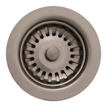 "Whitehaus RNW35-BN 3 1/2"" Basket Strainer - Brushed Nickel"