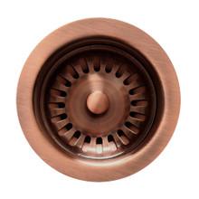"Whitehaus RNW35-ACO 3 1/2"" Basket Strainer - Antique Copper"
