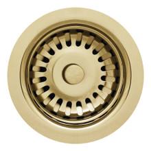 "Whitehaus RNW35-B 3 1/2"" Basket Strainer - Polished Brass"