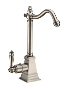 Whitehaus WHFH-H2011-BN Point of Use Instant Hot Water Drinking Faucet with Traditional Swivel Spout - Brushed Nickel