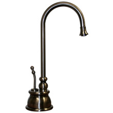 Whitehaus WHFH-H4540-P Point of Use Instant Hot Water Faucet with Gooseneck Spout and Self Closing Handle - Pewter