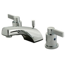 Kingston Brass Two Handle Widespread Lavatory Faucet with Brass Pop-Up Drain - Polished Chrome