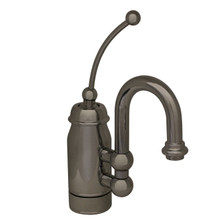 Whitehaus 3-3178-BN Baby Horizon Single Handle Bar / Prep Faucet with Curved Extended Stick Handle and Curved Spout - Brushed Nickel