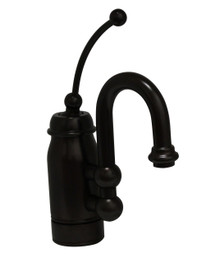 Whitehaus 3-3178-ORB Baby Horizon Single Handle Bar / Prep Faucet with Curved Extended Stick Handle and Curved Spout - Oil Rubbed Bronze