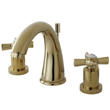 Kingston Brass KS2962ZX Two Handle Widespread Lavatory Faucet - Polished Brass