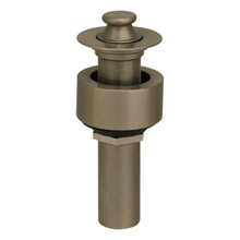 Whitehaus 10.615-BN Lift and Turn Drain with Pull-up Plug for Above Mount Installation - Brushed Nickel