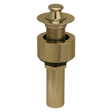Whitehaus 10.615-B Lift and Turn Drain with Pull-up Plug for Above Mount Installation - Polished Brass