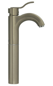 Whitehaus 3-04044-BN Wavehaus Single Handle Elevated Lavatory Faucet - Brushed Nickel