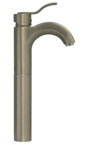 Whitehaus 3-04044-BN Wavehaus Single Handle Elevated Lavatory Faucet - Brushed Nickel