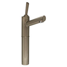 """Whitehaus 3-3344-BN Centurion Single Hole Stick Handle Elevated Lavatory Faucet with 7"""" Extension and Long Spout - Brushed Nickel"""