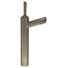 "Whitehaus 3-3345-BN Centurion Single Hole Stick Handle Elevated Lavatory Faucet with 7"" Extension and Short Spout - Brushed Nickel"