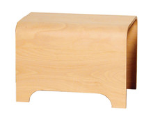Whitehaus AEB55N Aeri Wood Stool - Natural (Birchwood)