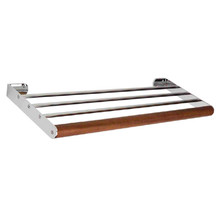 Whitehaus AMAT06 Antonio Miro Towel Shelf - Chrome/Ebony Wood
