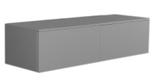 Whitehaus WHAEVGR06 Aeri Gray Lacquered Wood Wall Mount Unit with Double Drawers and Counter Top - Gray Shiny Lacquered