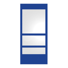 Whitehaus WHE11-BLUE New Generation Rectangular Ecoloom Mirror with Laminated Colored Glass Border - Blue