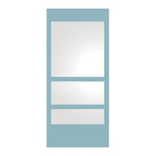 Whitehaus WHE11-MATTE New Generation Rectangular Ecoloom Mirror with Laminated Colored Glass Border - Matte
