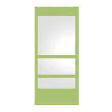 Whitehaus WHE11-YELLOW New Generation Rectangular Ecoloom Mirror with Laminated Colored Glass Border - Yellow