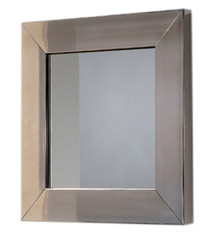Whitehaus WHE5B New Generation Square Mirror with Stainless Steel Frame - Polished Stainless Steel