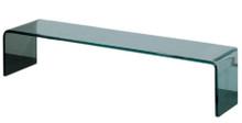 Whitehaus WHPONTE New Generation Ponte - Large Freestanding Transparent Glass Shelf